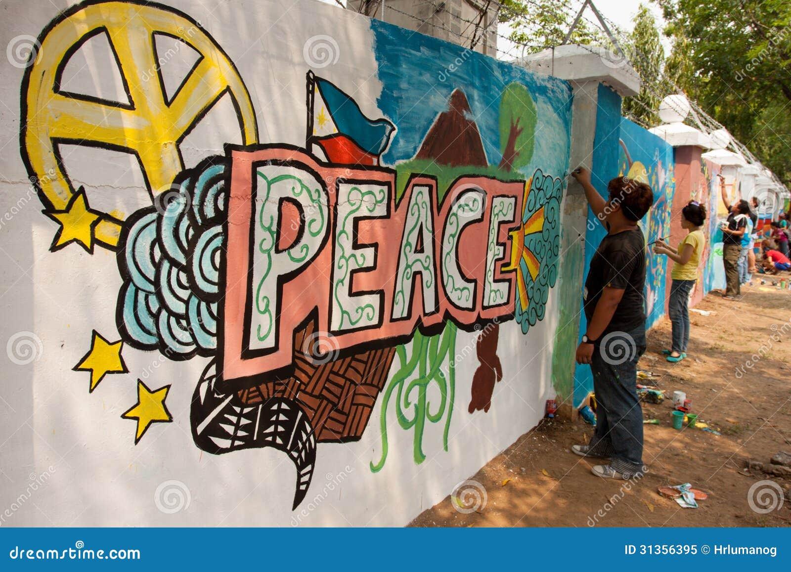Pintura mural de la paz del r cord mundial en manila for El mural de anuncios