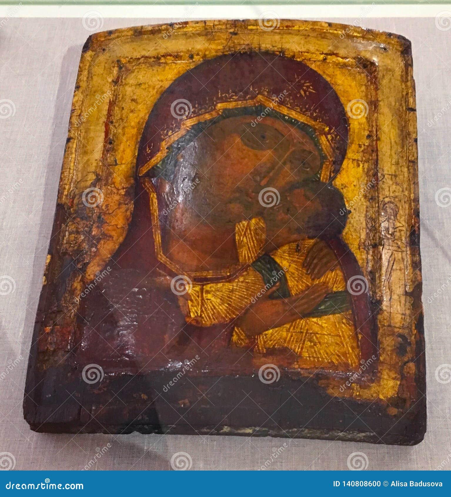 A pintura ortodoxo antiga chamou o ícone, o Rodes, Grécia