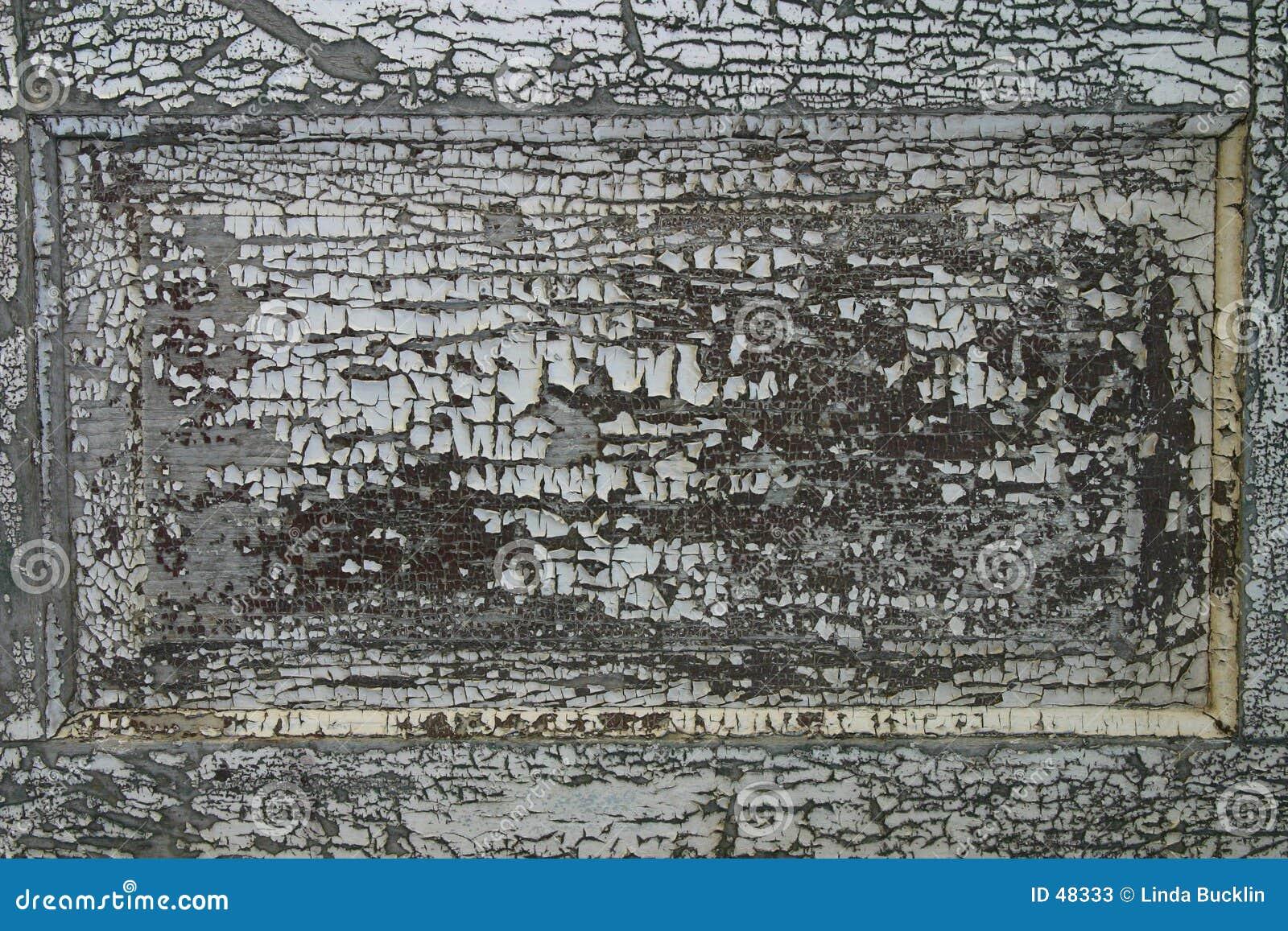 Pintura rachada da casca