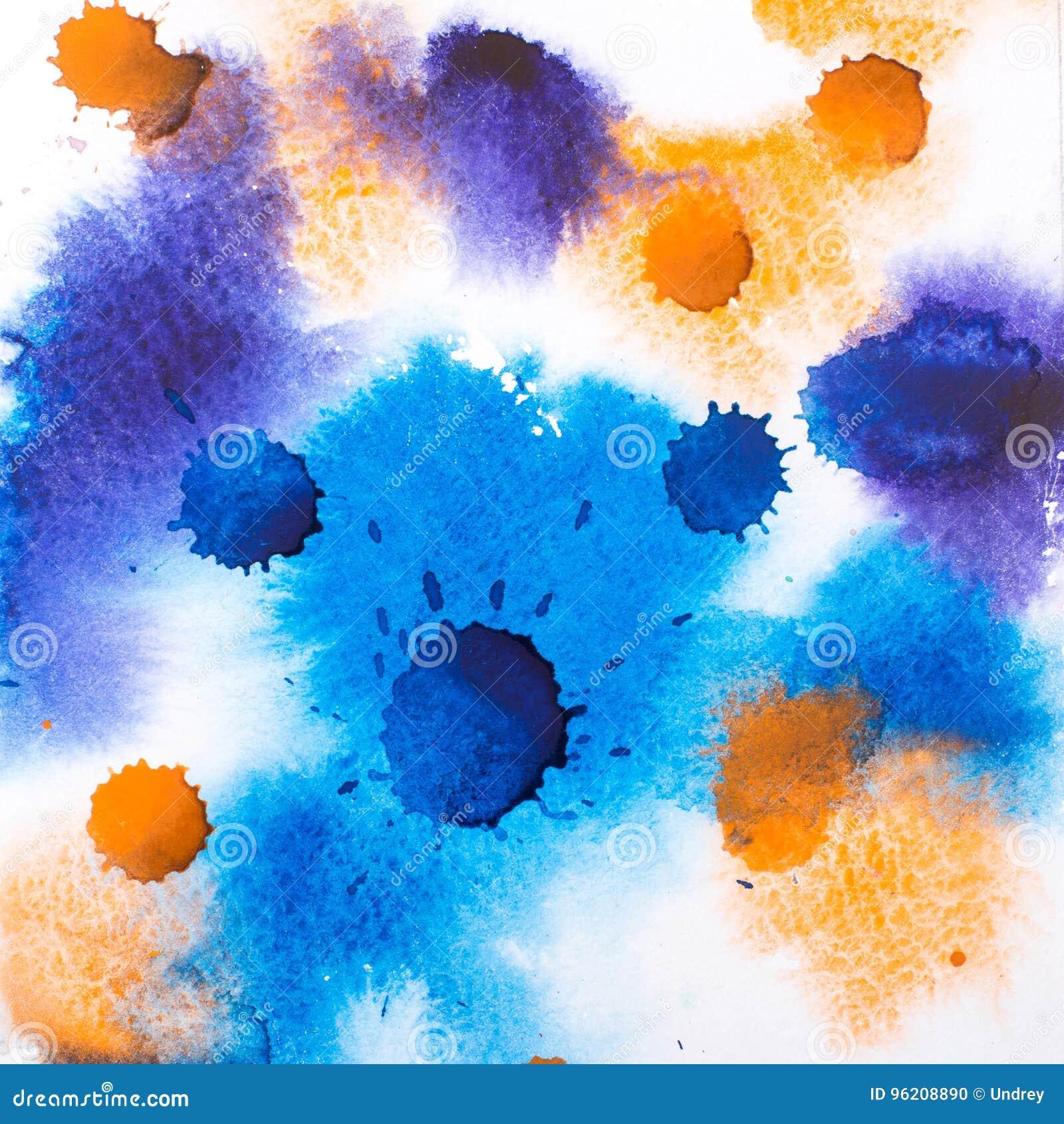 Pintura retra colorida de la acuarela del watercolour del extracto del vintage