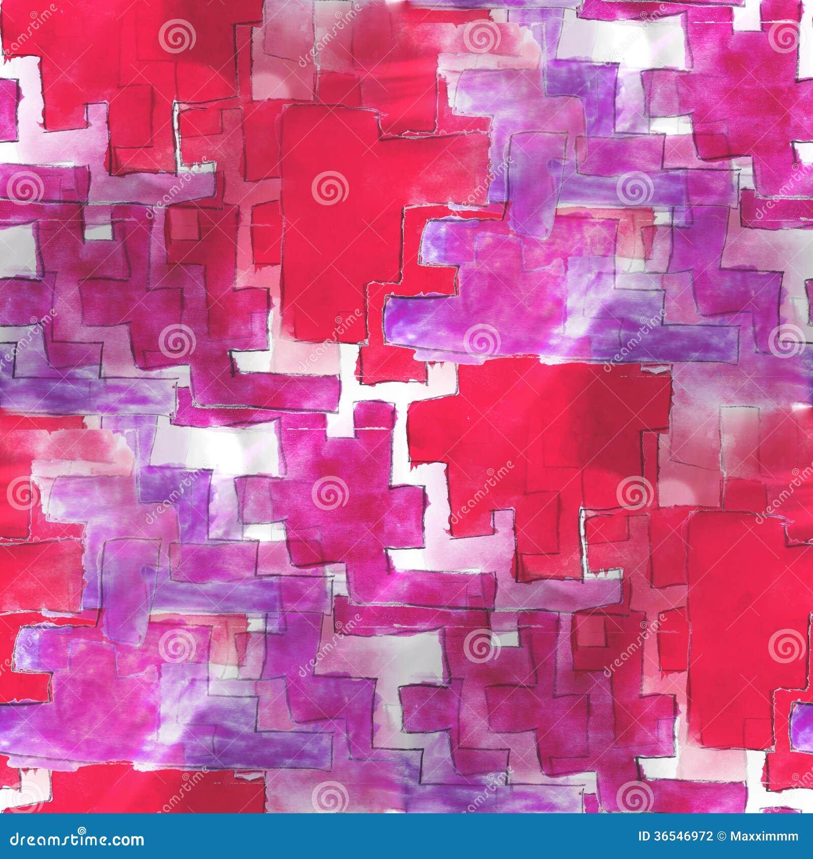 Pintura roja del arte, púrpura vanguardista de la mano del fondo