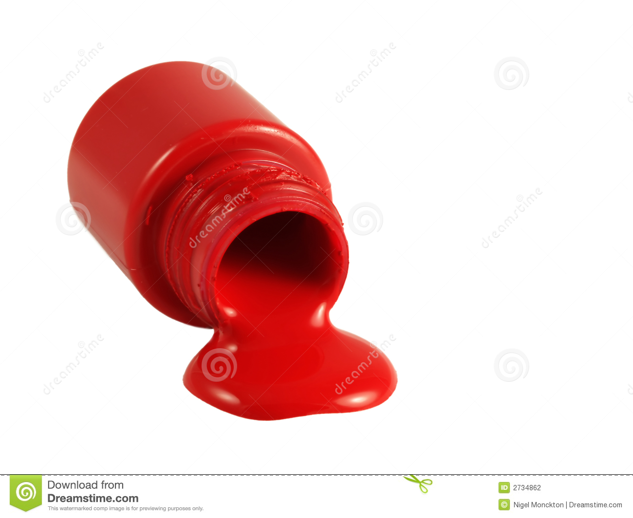 Dreamstime Red Acrylic Paint