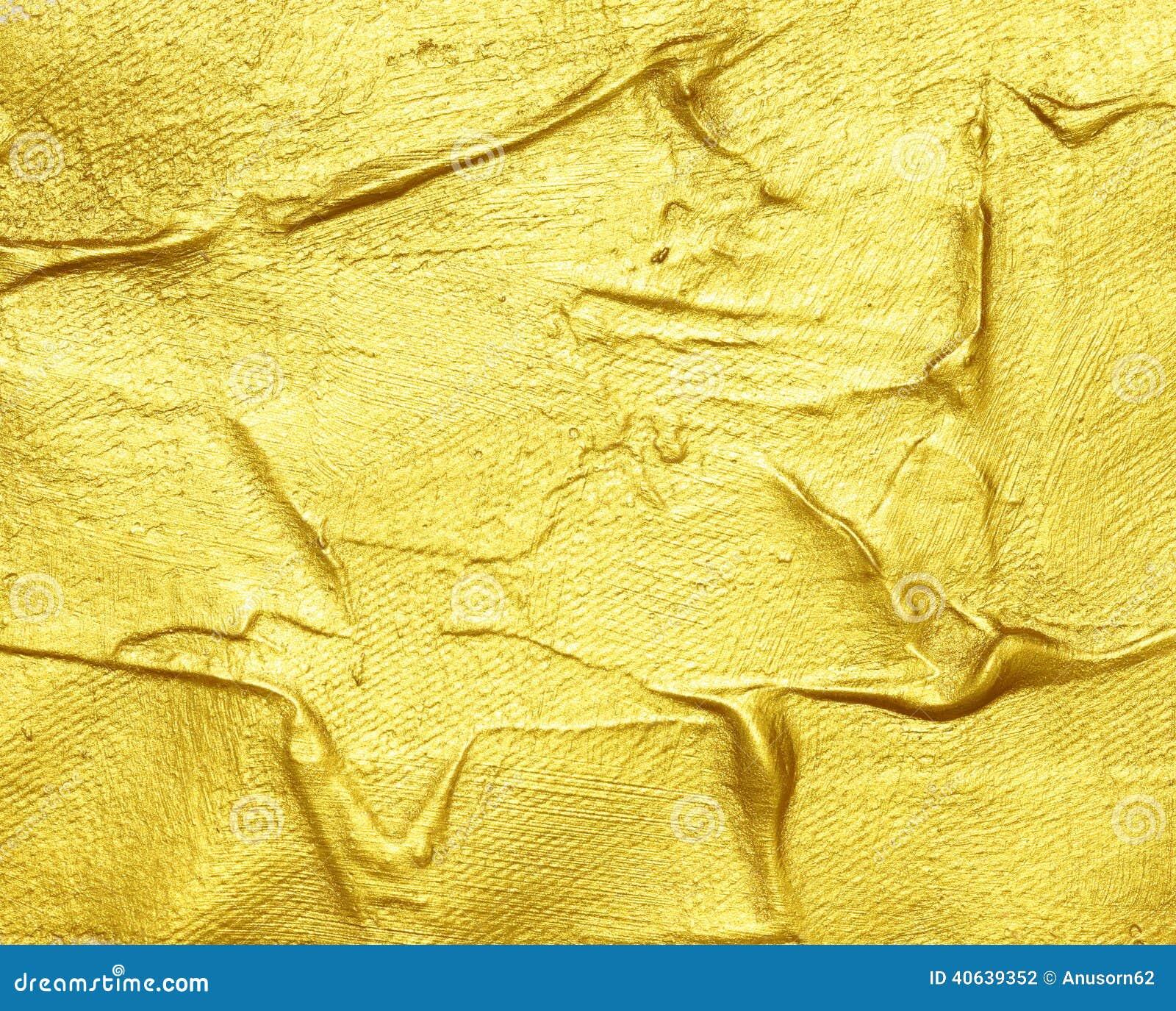Pintura texturizada acr lico del oro foto de archivo for Pintura texturada para exterior