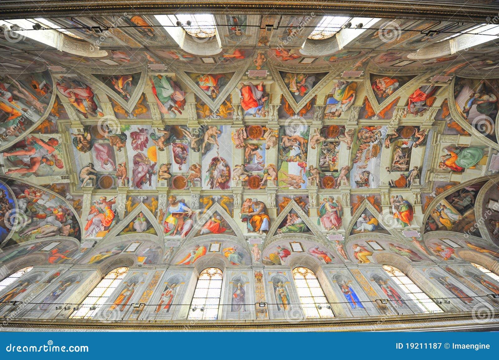 Pinturas de la capilla de Sistine de Michelangelo