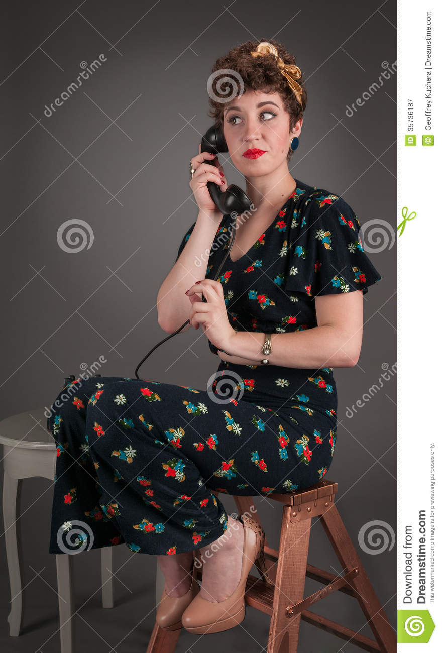 Alluring pinup girl outfit not bother
