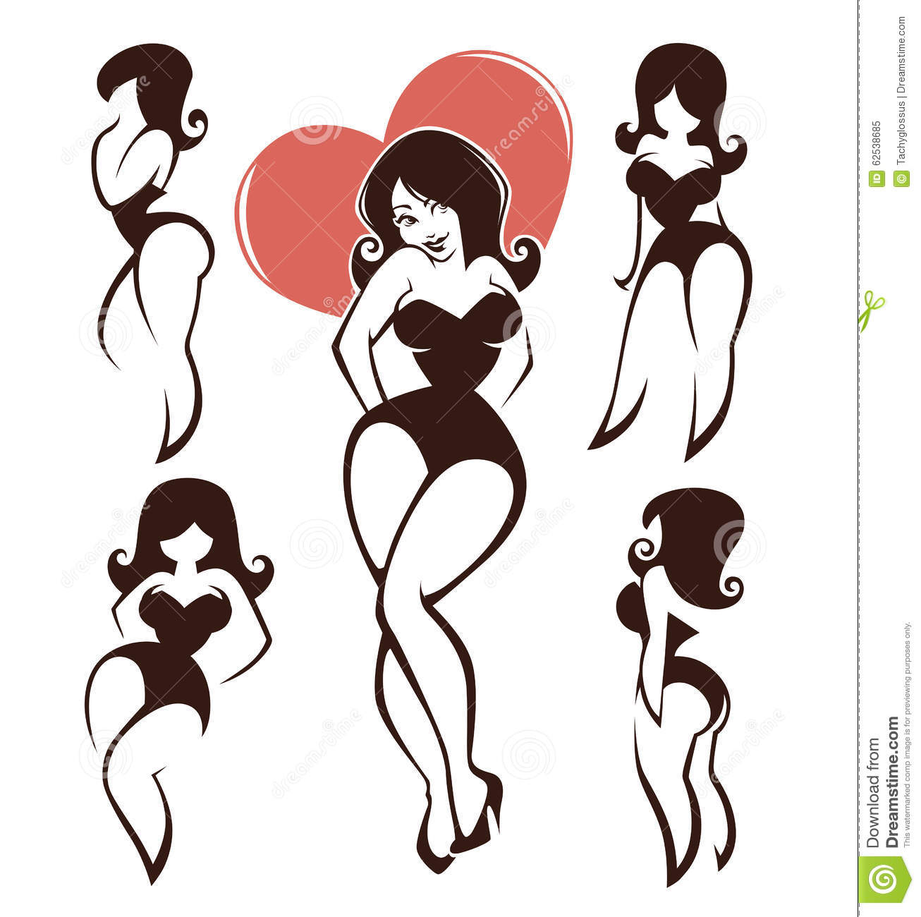pinup girls stock vector illustration of point adorable 62538685
