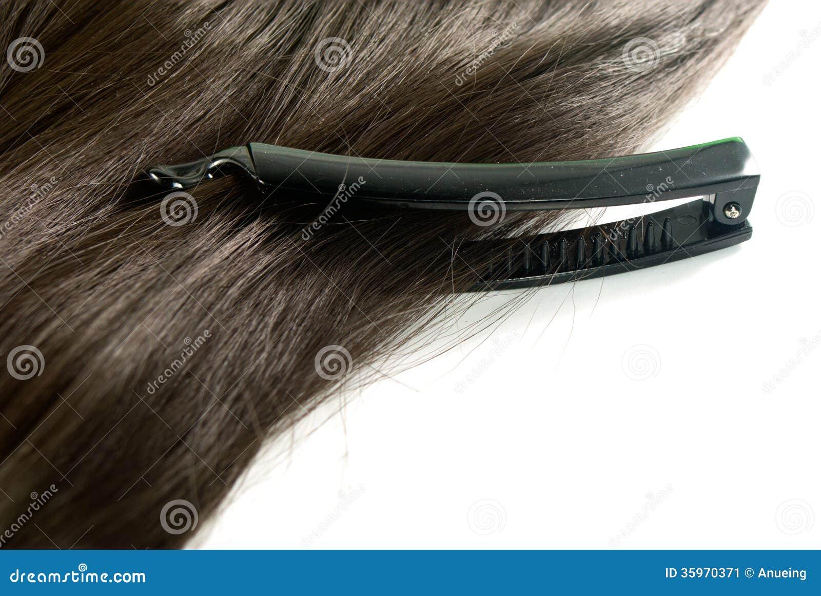 Pinza de pelo y pelo