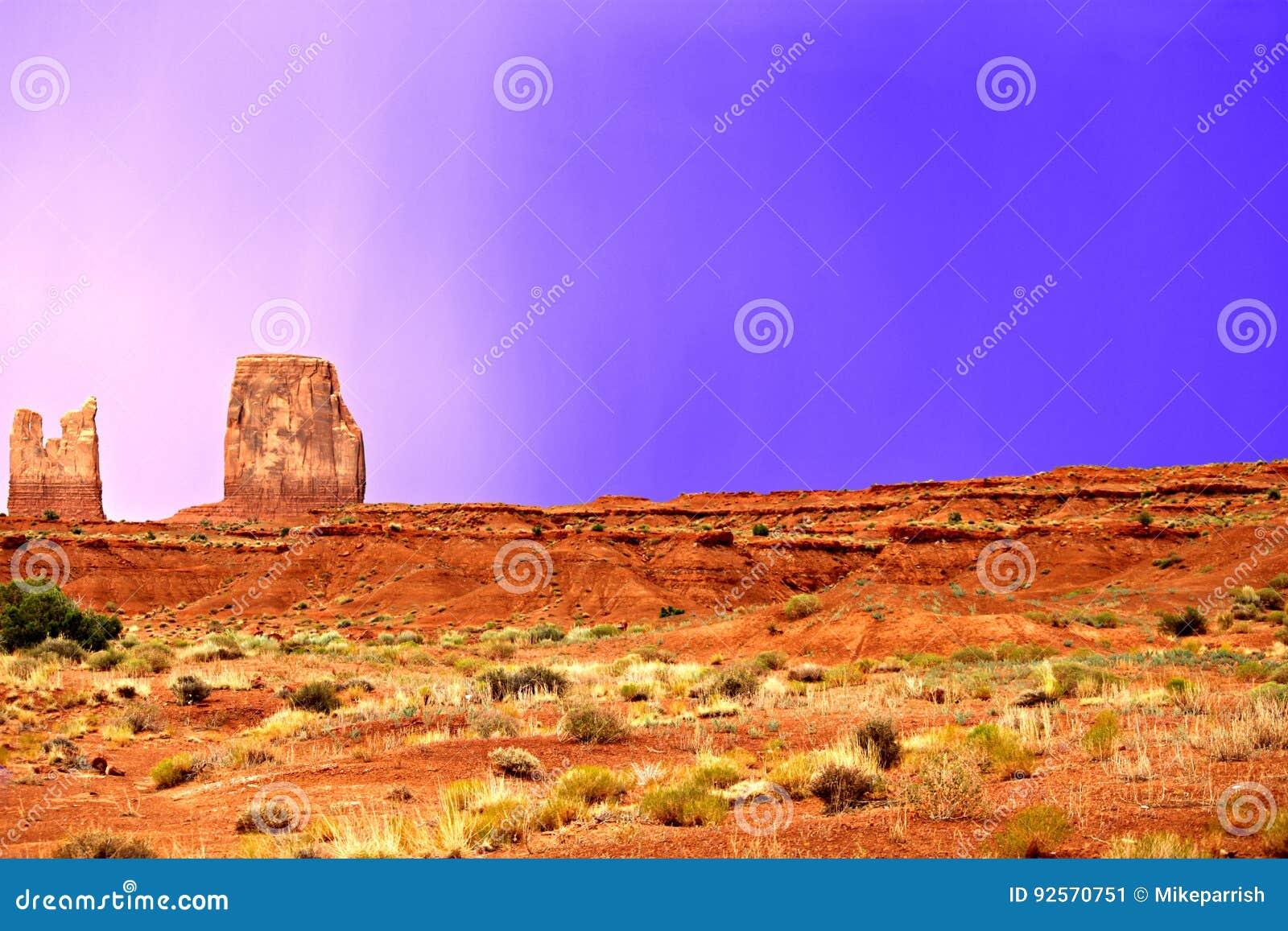 Pioggia blu del deserto