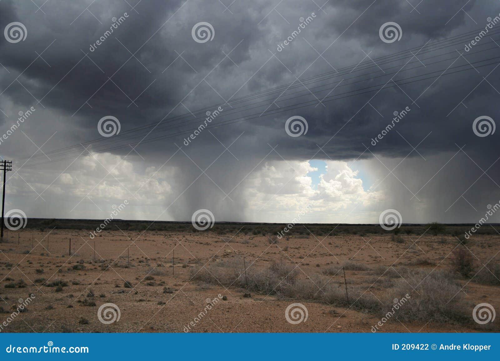 Pioggia nel deserto
