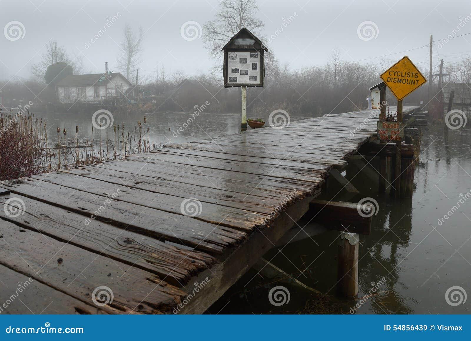 Pioggia persistente, Finn Slough, Richmond, BC
