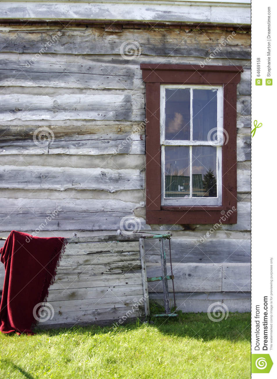Pioneer house stock photo  Image of background, history