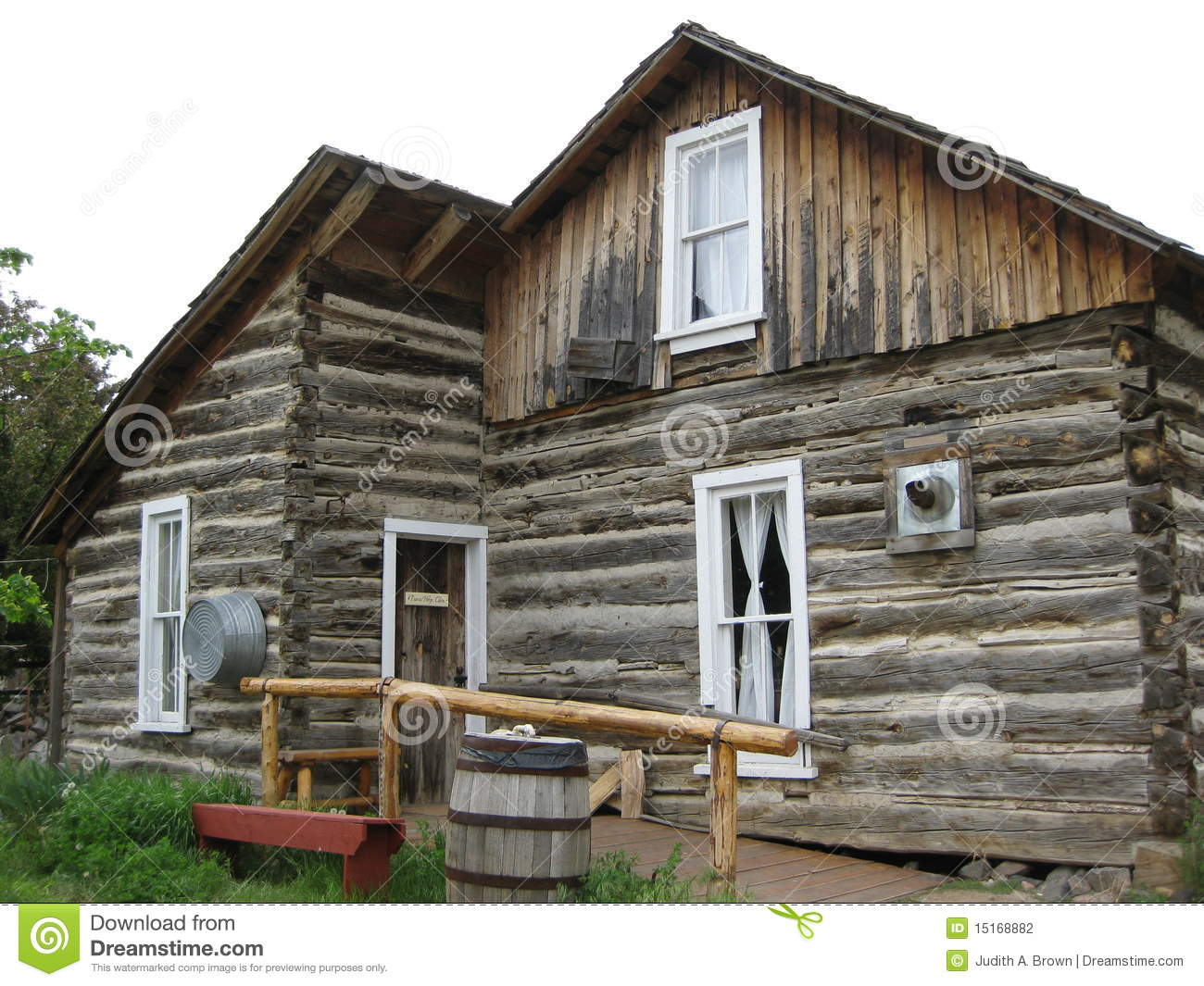 pioneer log cabin stock photo image of colorado western 15168882. Black Bedroom Furniture Sets. Home Design Ideas