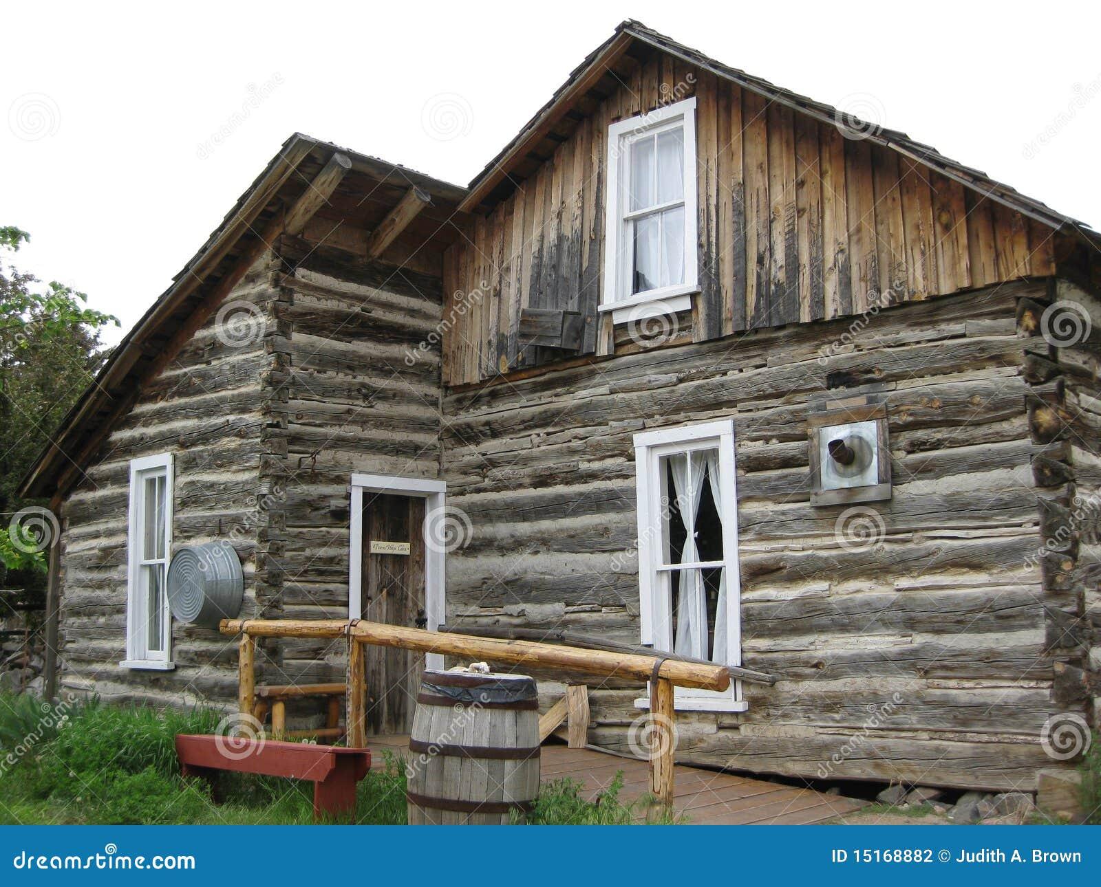 pioneer log cabin stock photo image of colorado western 15168882. Black Bedroom Furniture Sets. Home Design Ideas