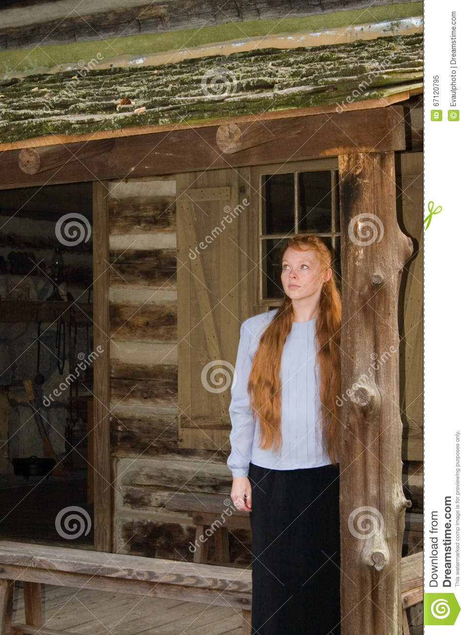 Pioneer Woman 00 Stock Image Image Of Longing Rough