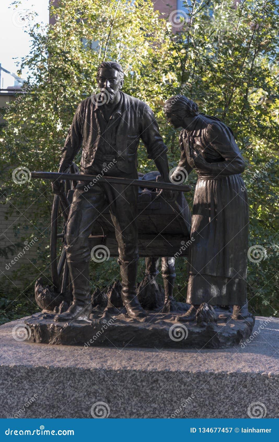 Pionier statuy świątyni kwadrat Salt Lake City