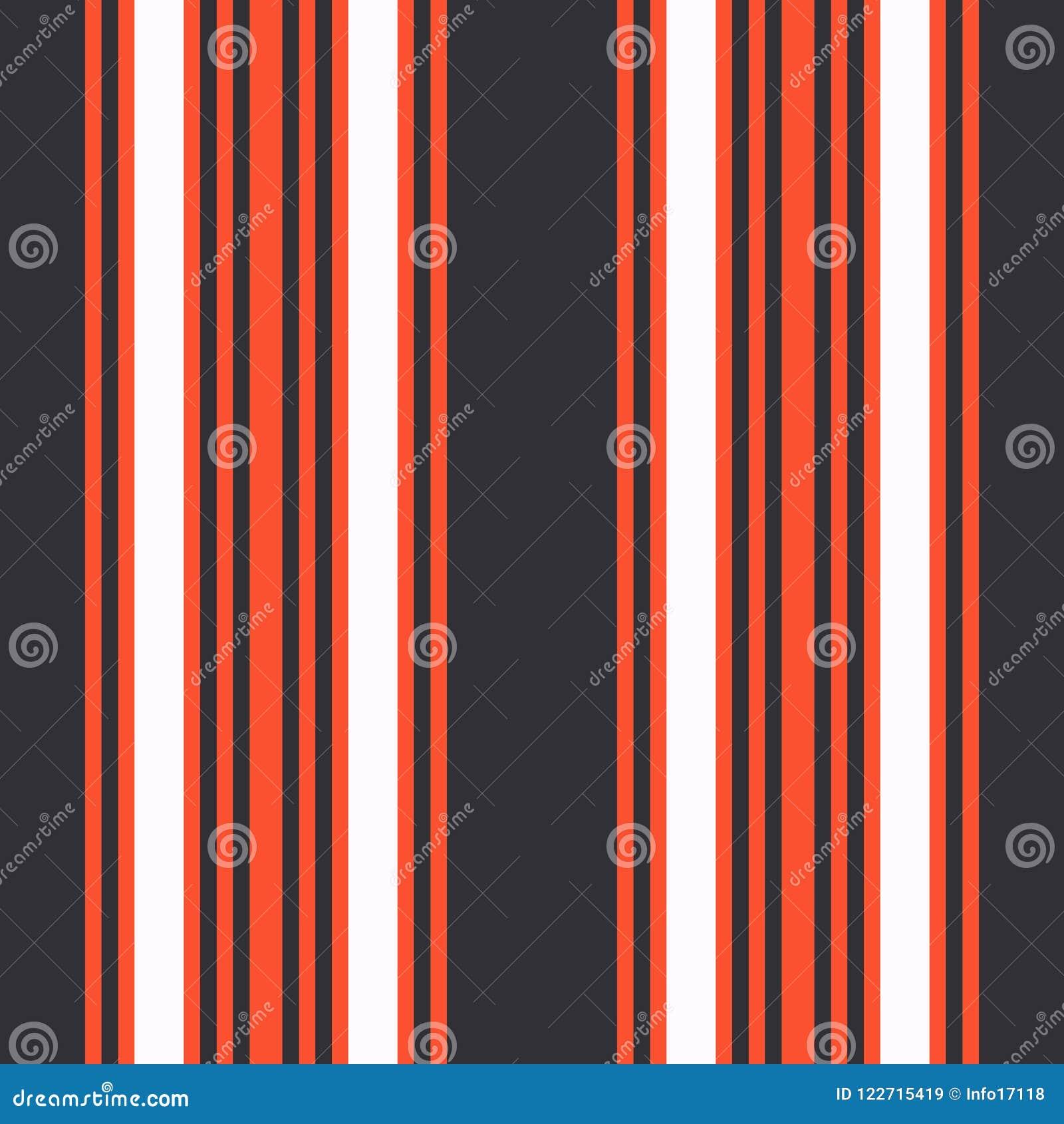 Pionowo czarny i pomarańczowy lampasa druku wektor