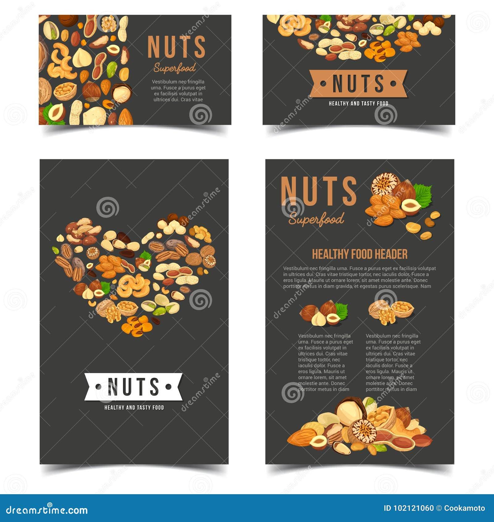 Pionowo plakaty dla weganin dokrętki odżywiania