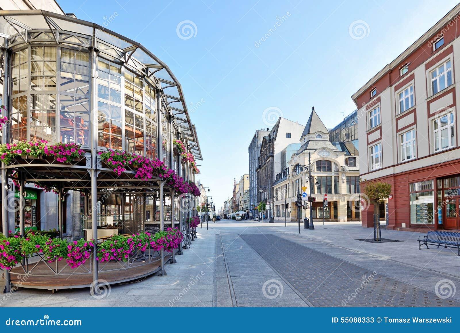 Piotrkowska Street Lodz Poland Stock Image Image 55088333