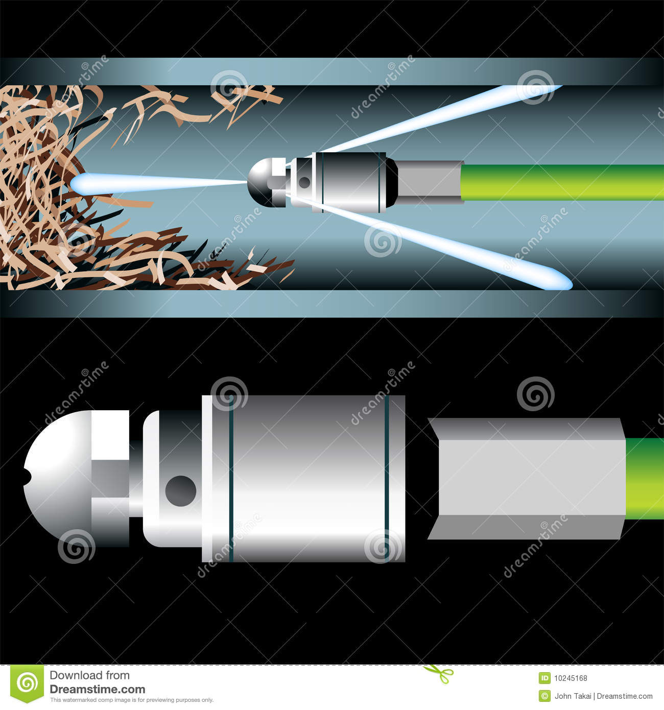pipe cleaning royalty  stock  image
