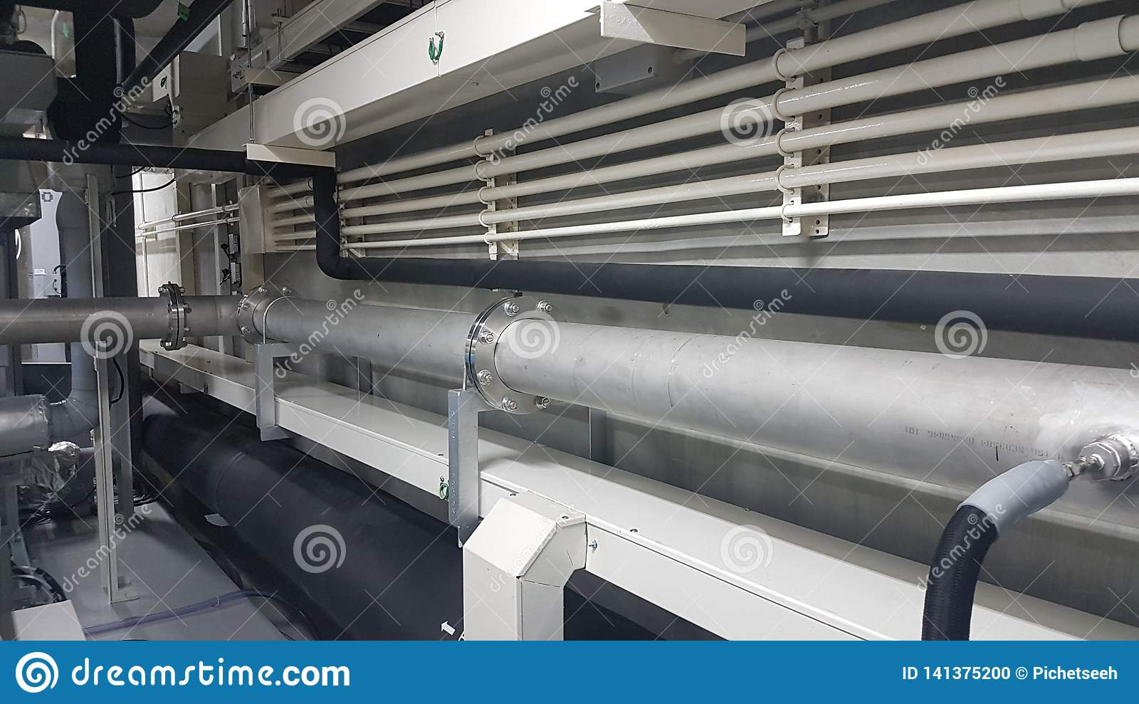 Pipe line system and conduit and cable duct for the gas system and electrical systems