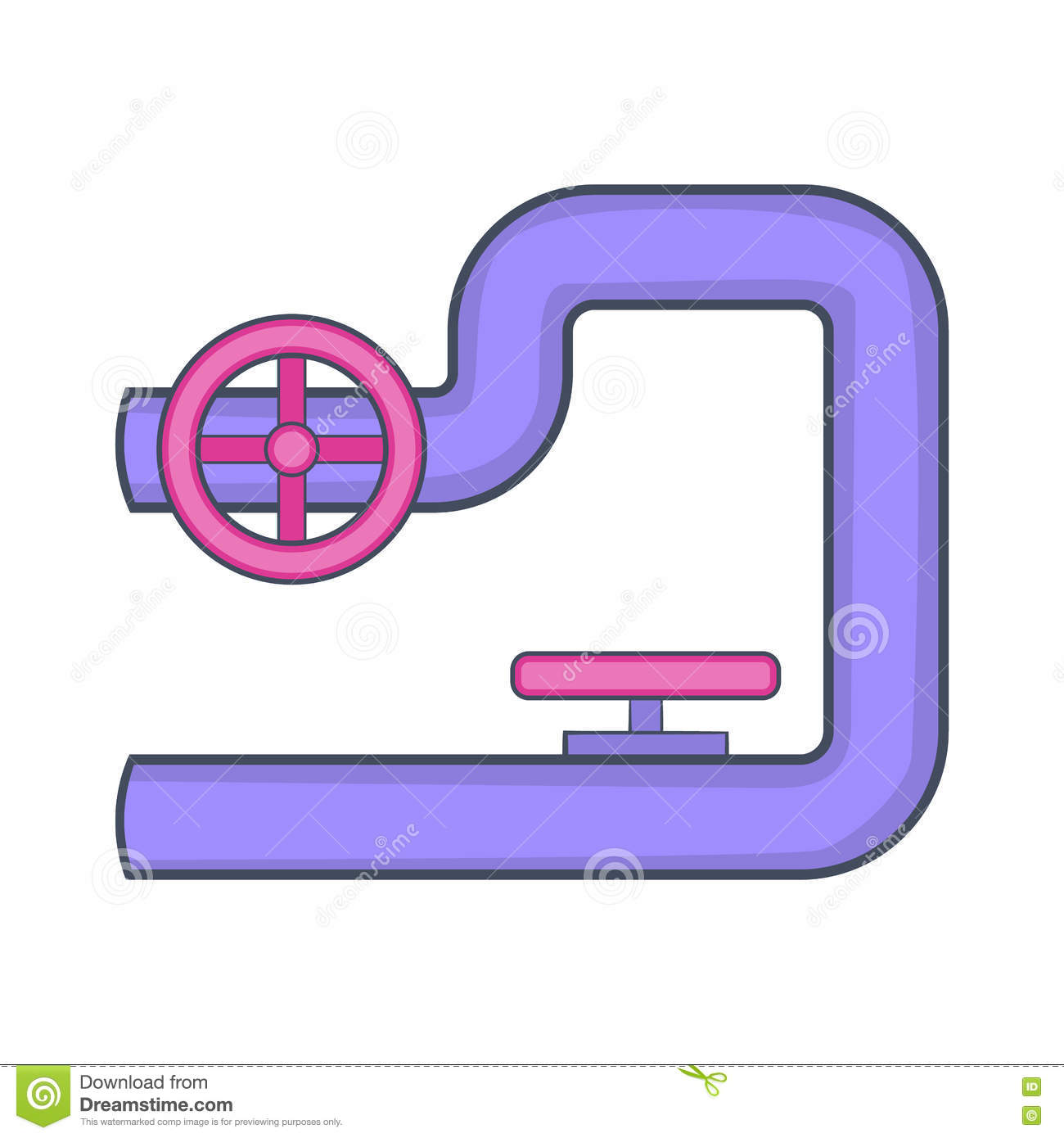 Pipe With Valves Icon Cartoon Style Stock Vector Illustration Of