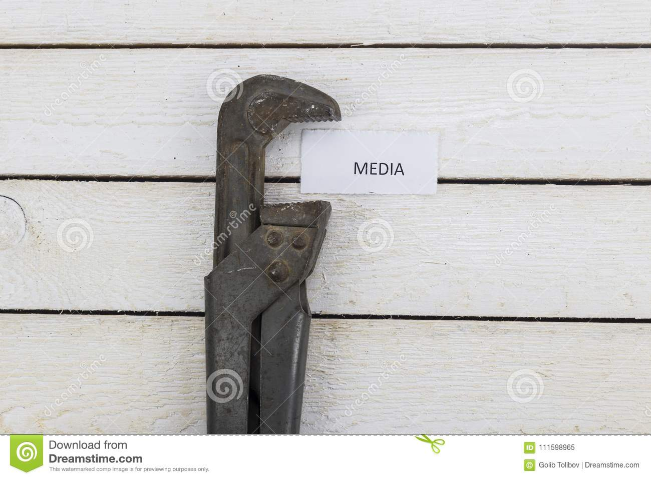 Pipe Wrench Compresses Media Stock Image Image Of Independence