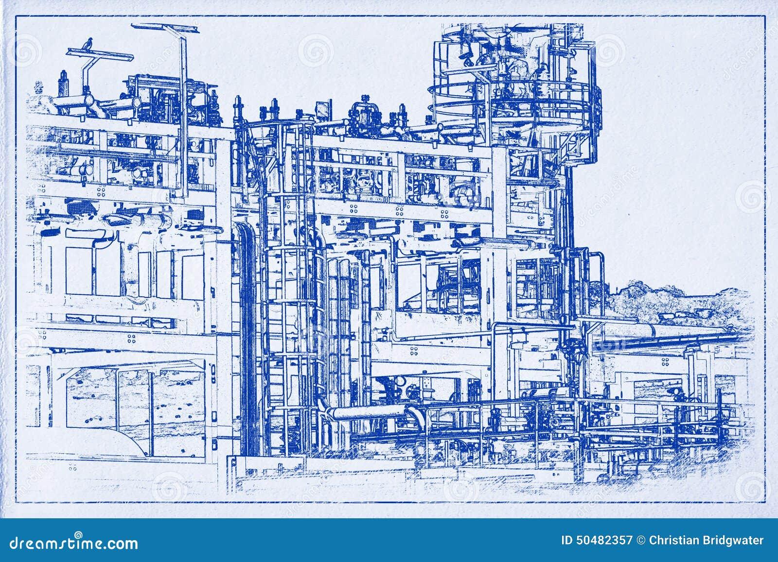 Pipeline Blueprint A Stock Illustration  Image Of