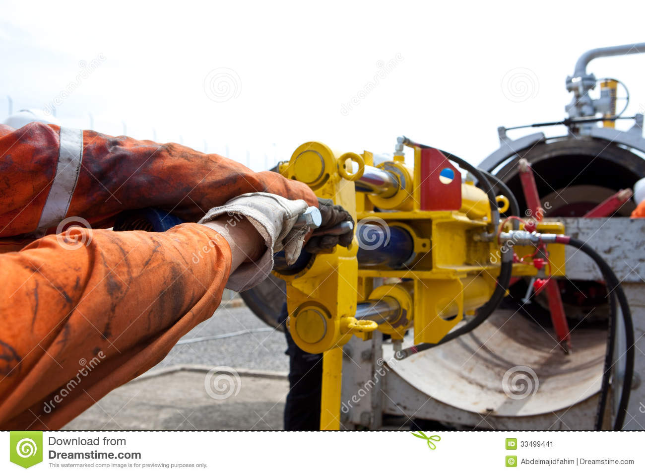 Pipeline pig cleaner stock image