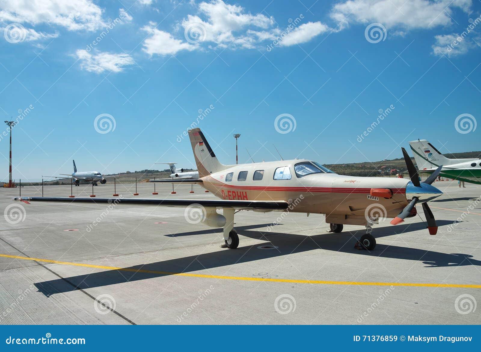 Piper PA-46 Malibu editorial stock image  Image of engine