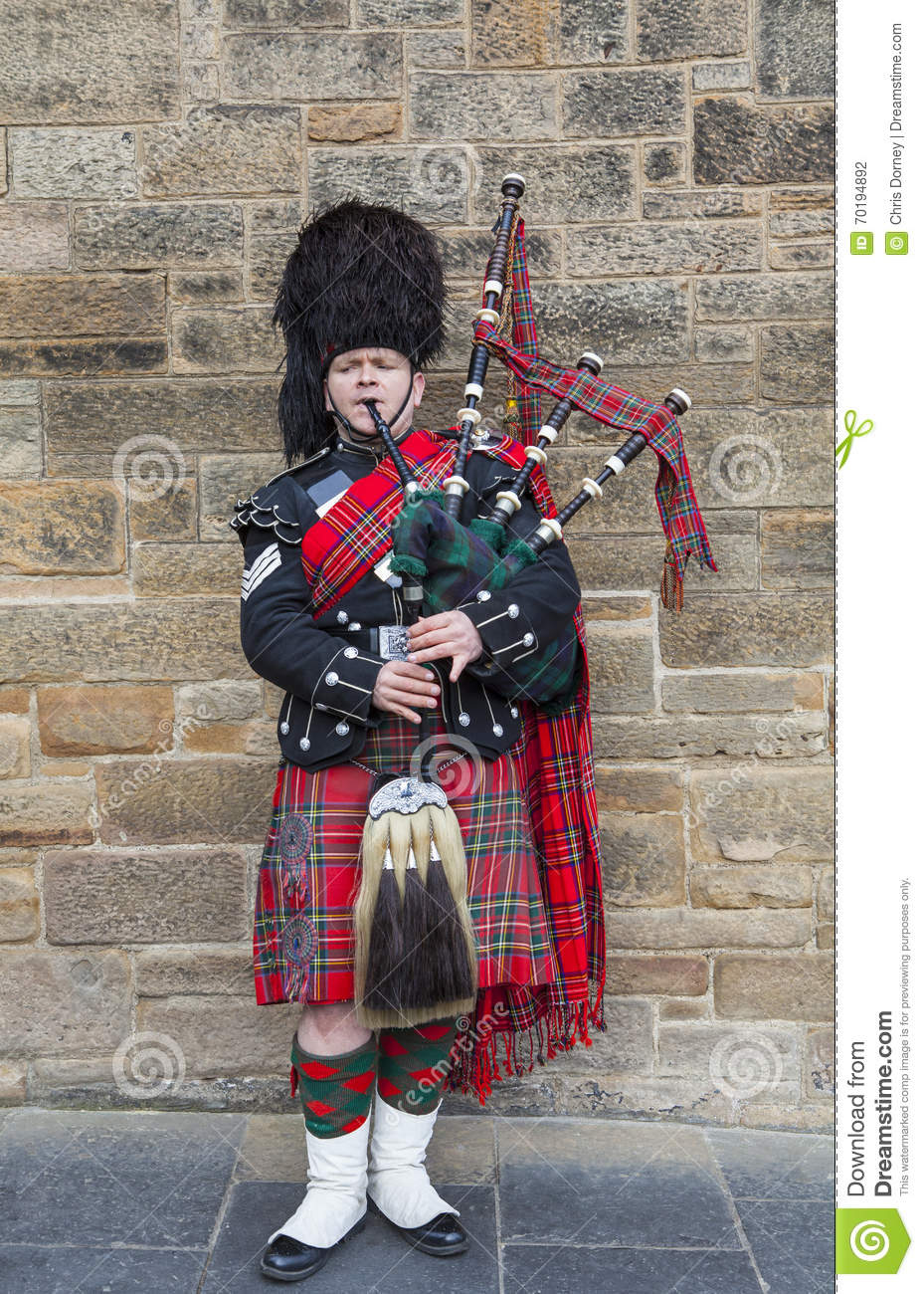 piper in tradition scottish in edinburgh editorial