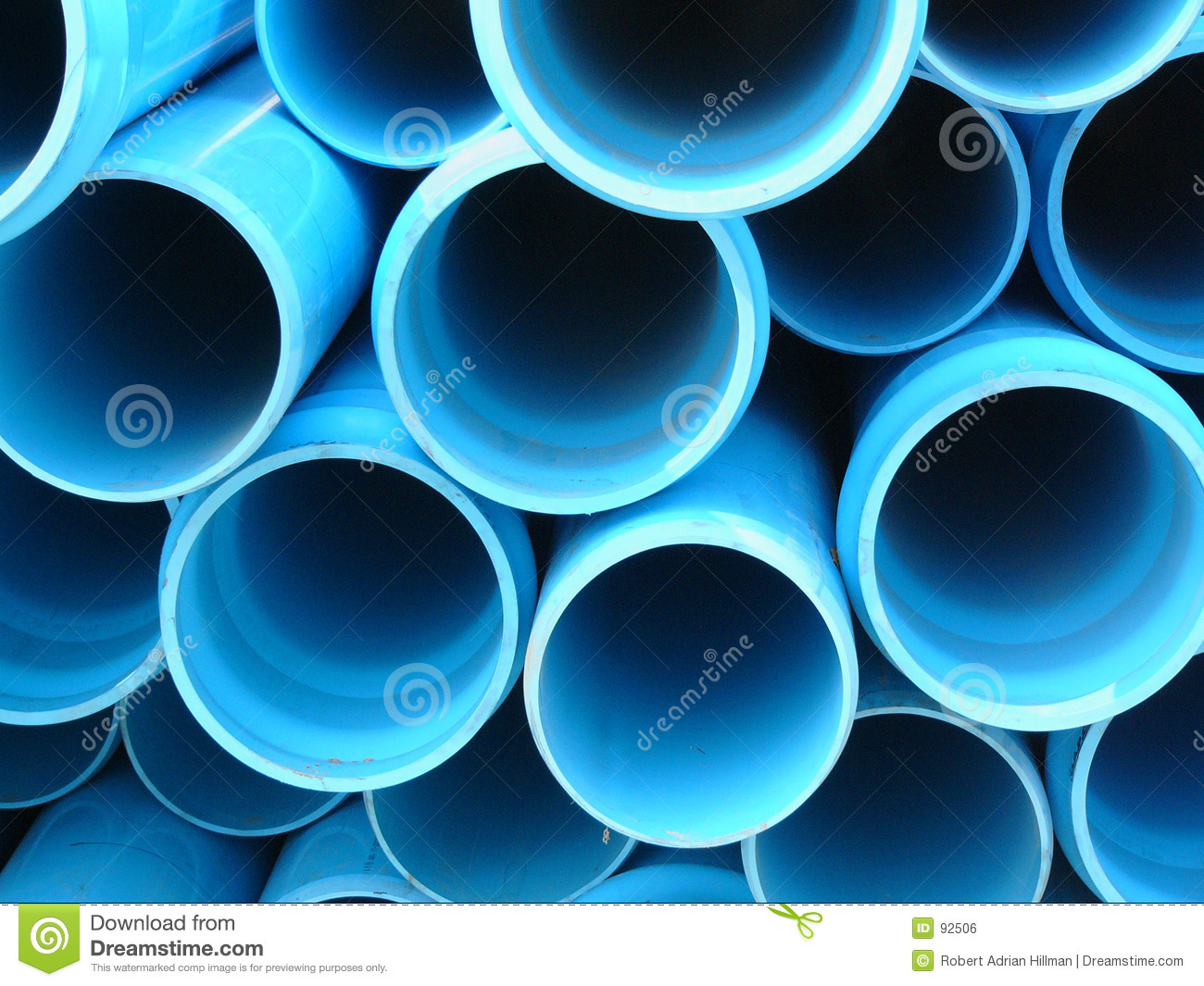 Pipes bleues