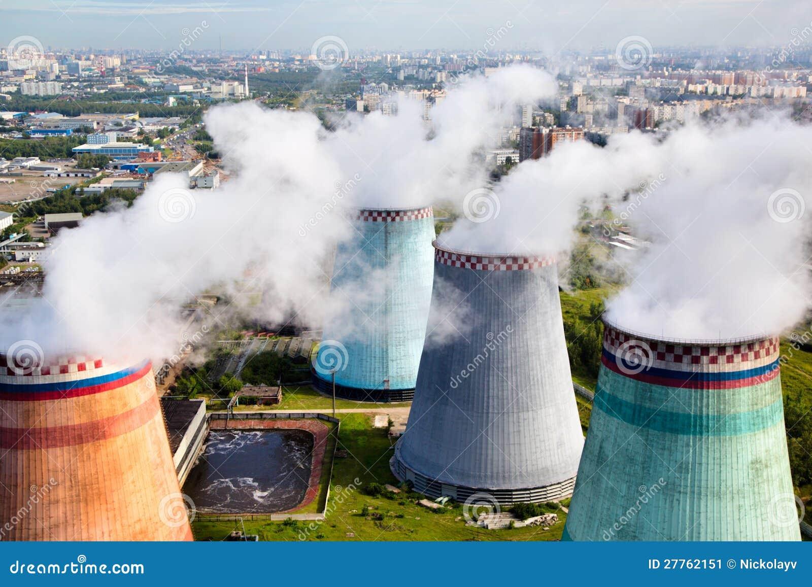 Pipes de la centrale thermique