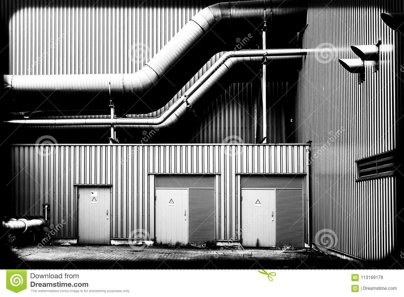 Pipes of a factory