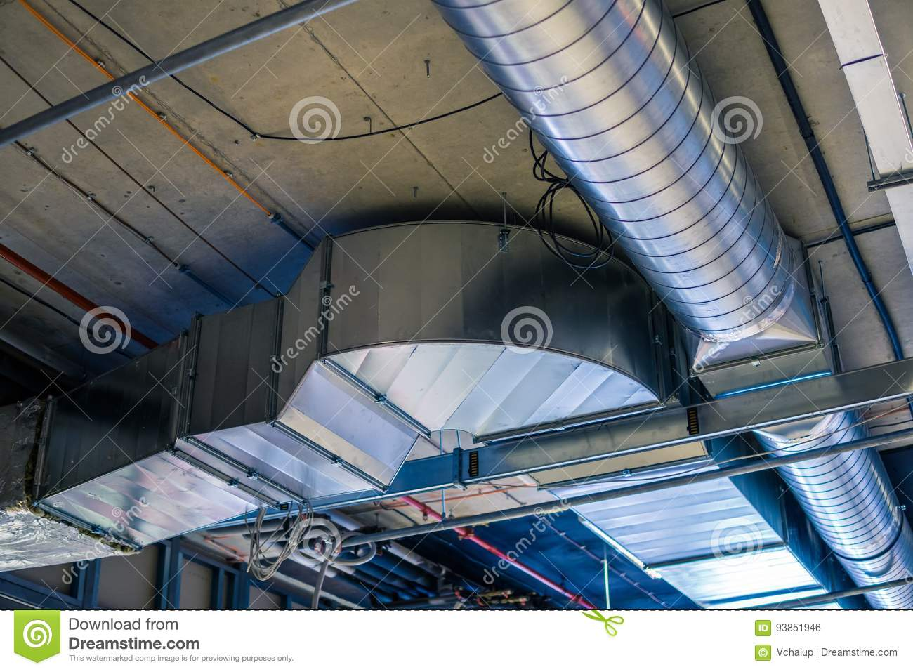 Pipes of HVAC system heating ventilation and air conditioning