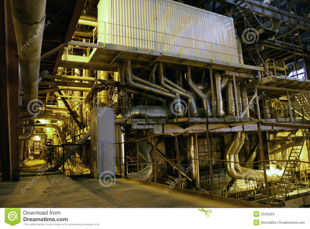Pipes Inside Energy Plant Stock Photos Image 2525933