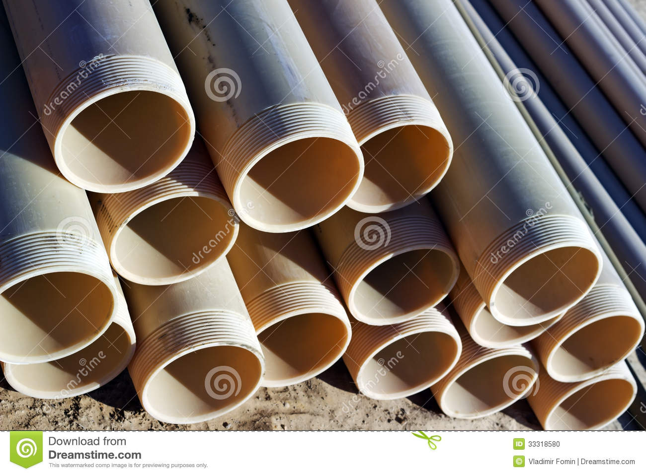 Pipes PVC stock photo  Image of pipes, connection, system - 33318580