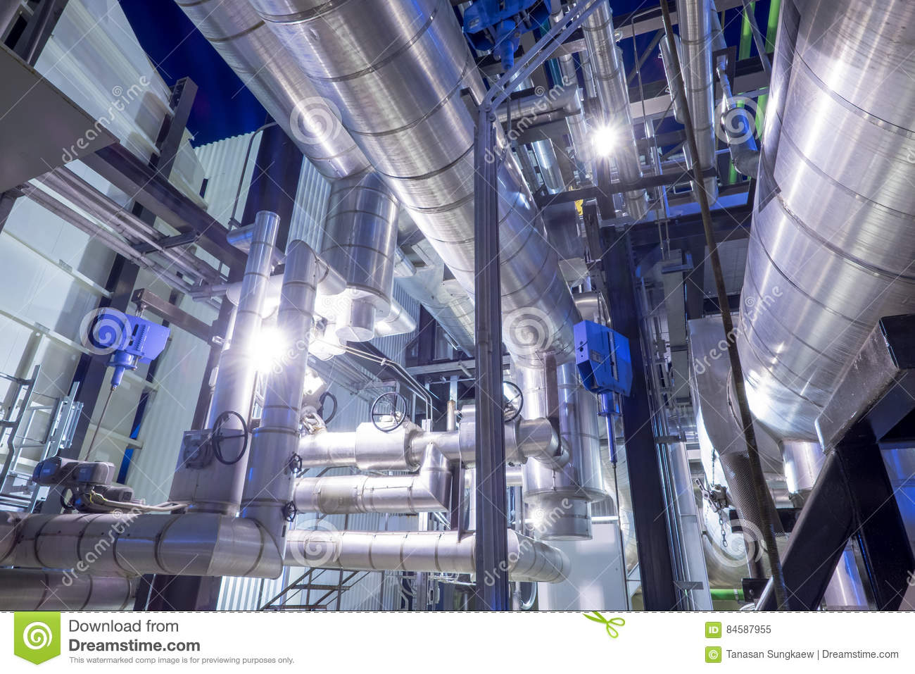 Piping With Insulation Of Boiler Stock Image - Image of device ...