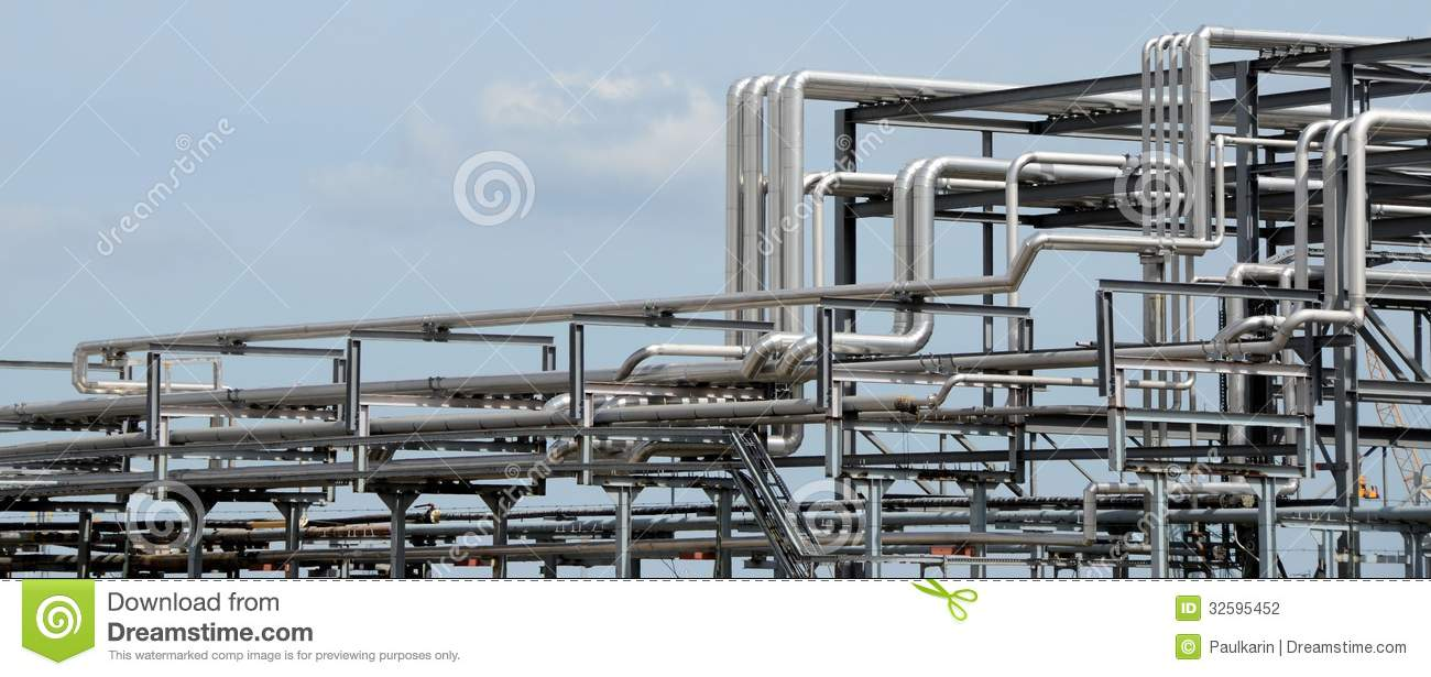 Chemical Piping Systems : Piping systems stock photo image of pipes tubes routing