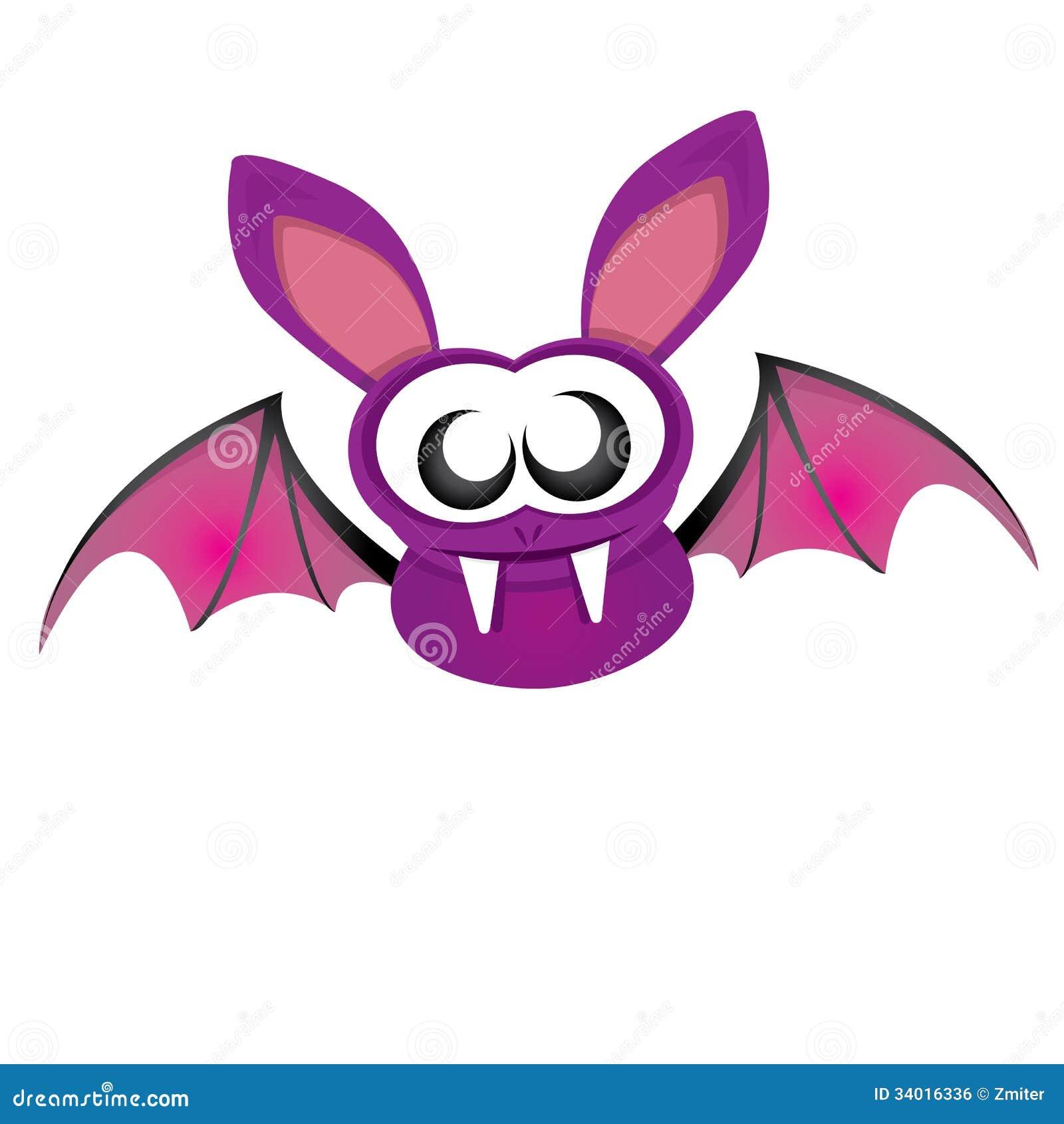 Pipistrello Divertente Del Diavolo Di Vettore Con Le Ali