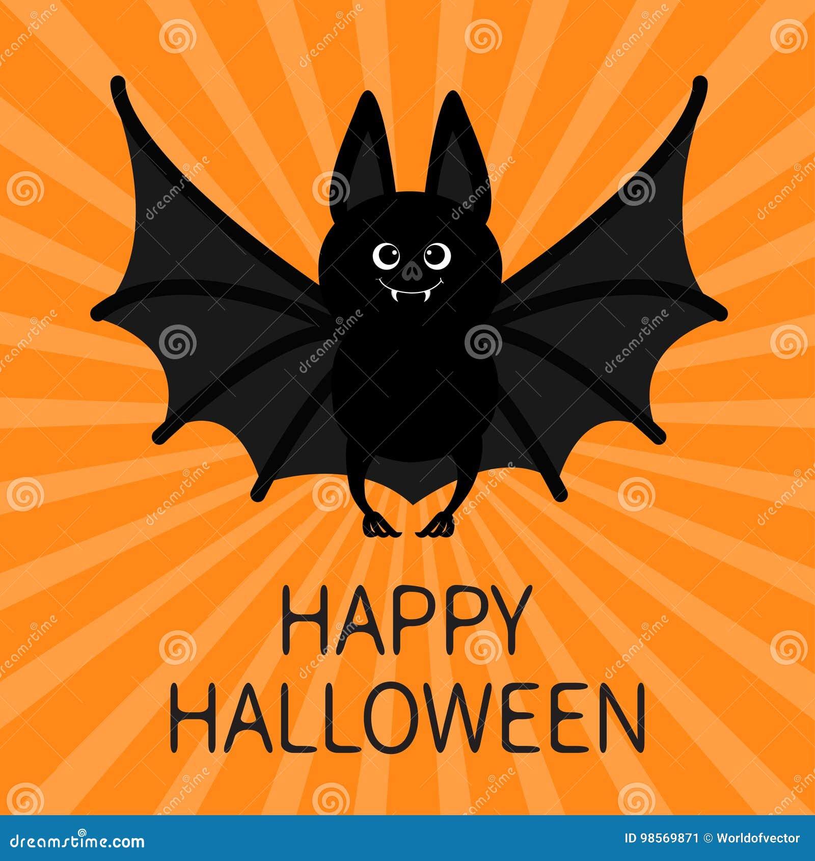 Cartone animato pipistrello vettore clip art k