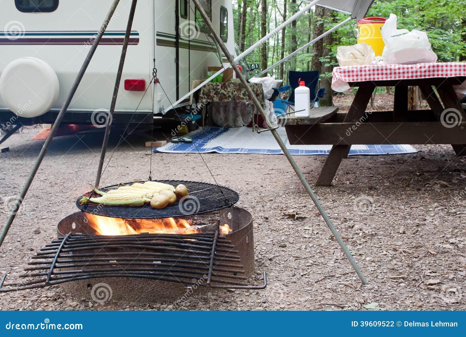 Pique-nique au terrain de camping