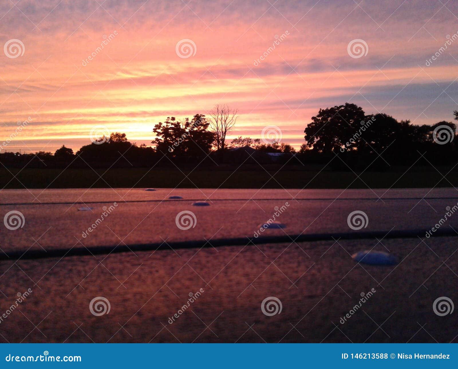 Pique-nique de coucher du soleil