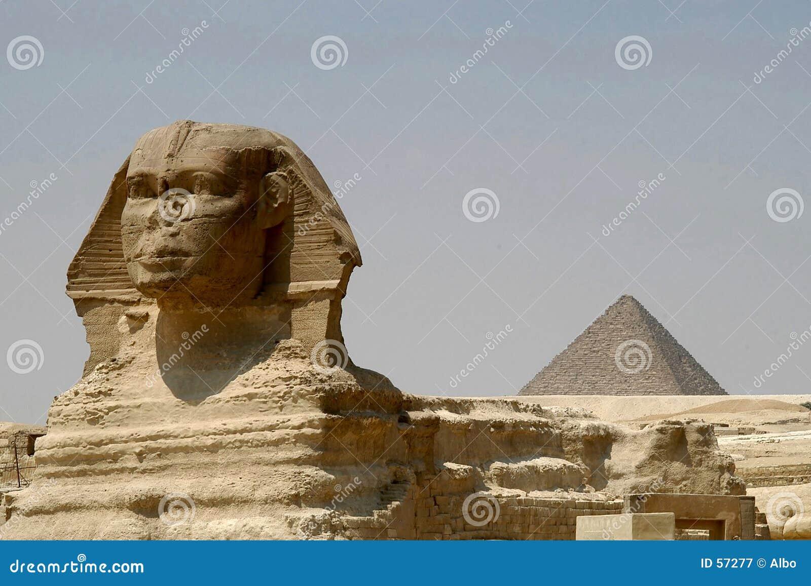 Pirámide de Sphynx y de Chefren