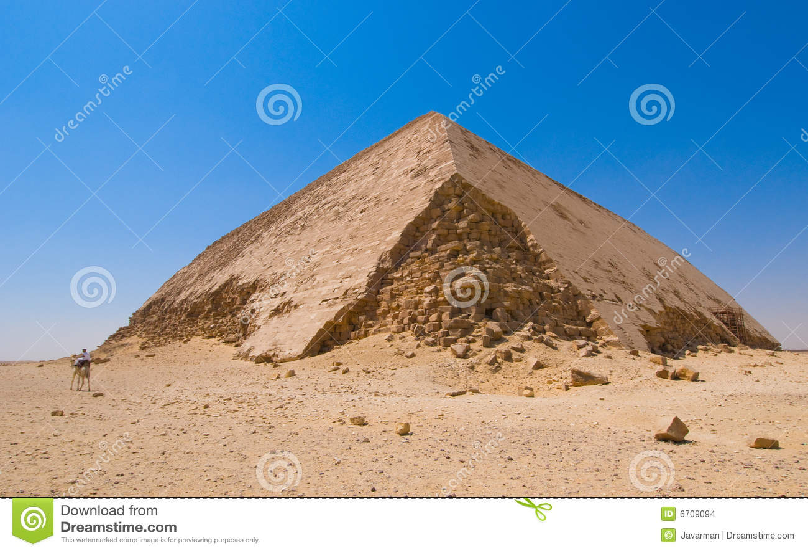 Pirámide doblada en Dahshur, El Cairo, Egipto