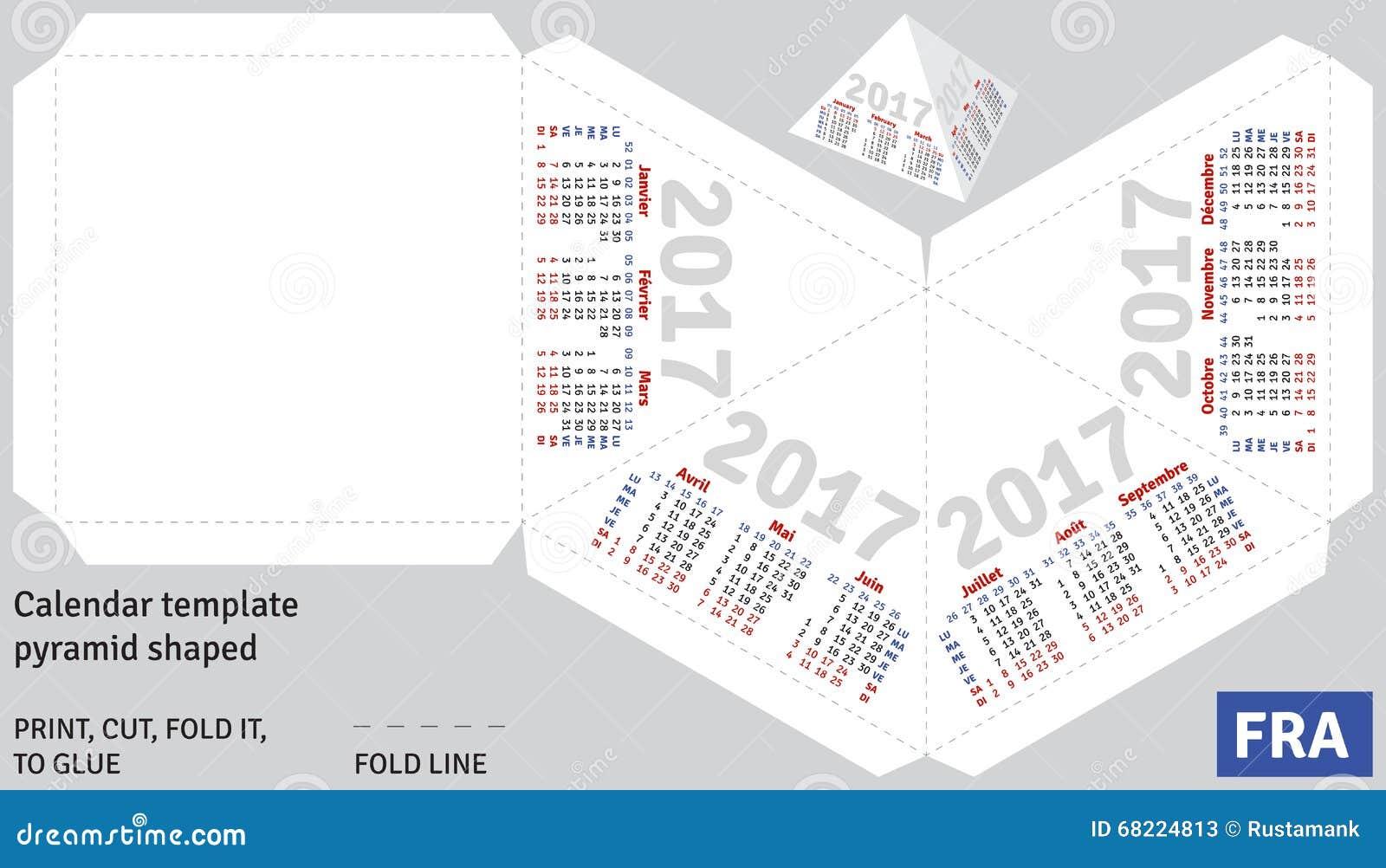 Pirámide Francesa 2017 Del Calendario De La Plantilla Formada ...