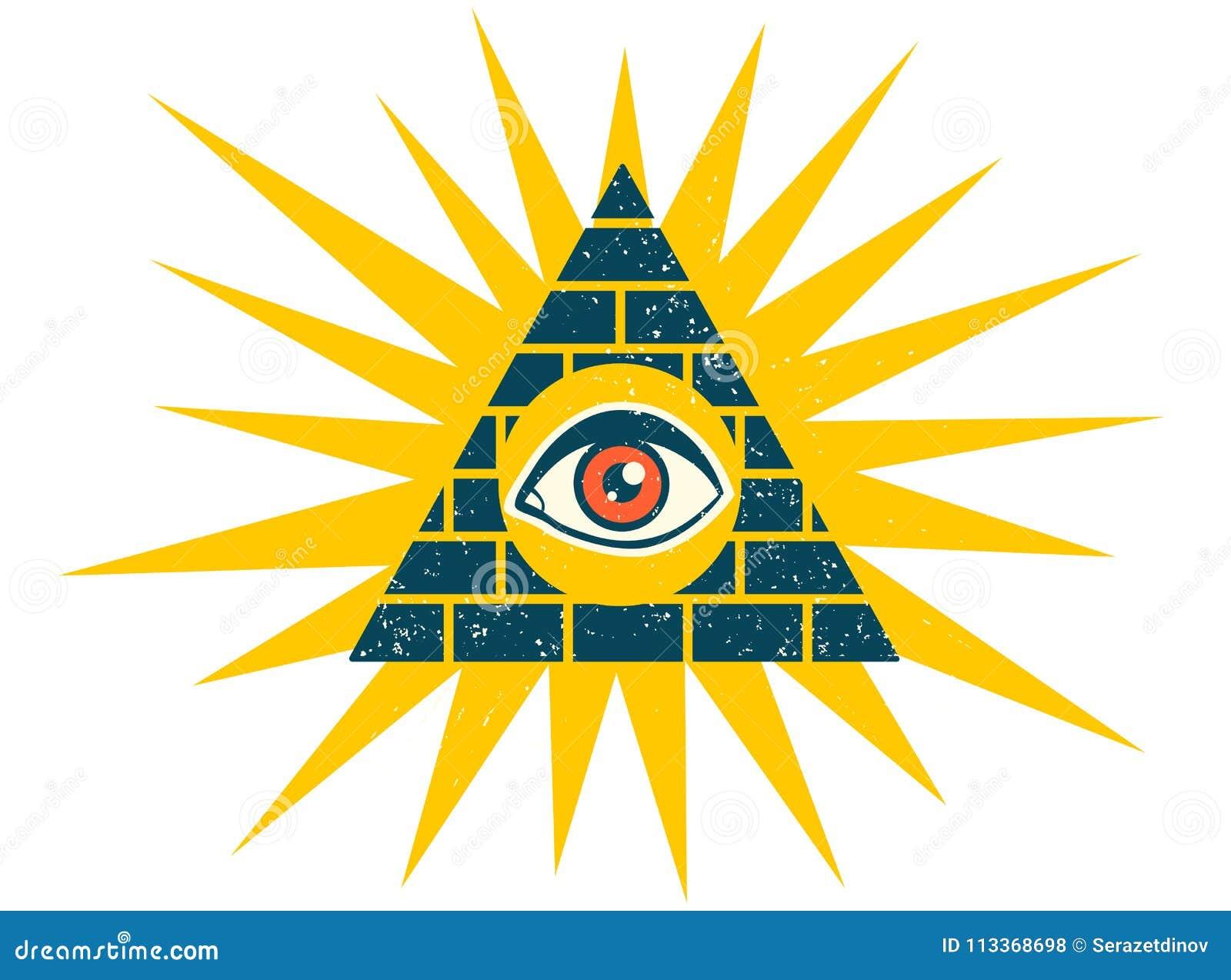 Pirâmide com olho