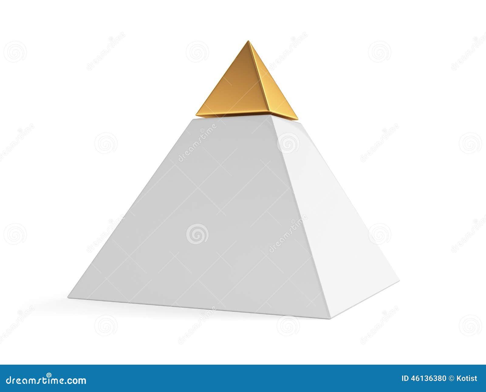 Pirâmide com tampão dourado