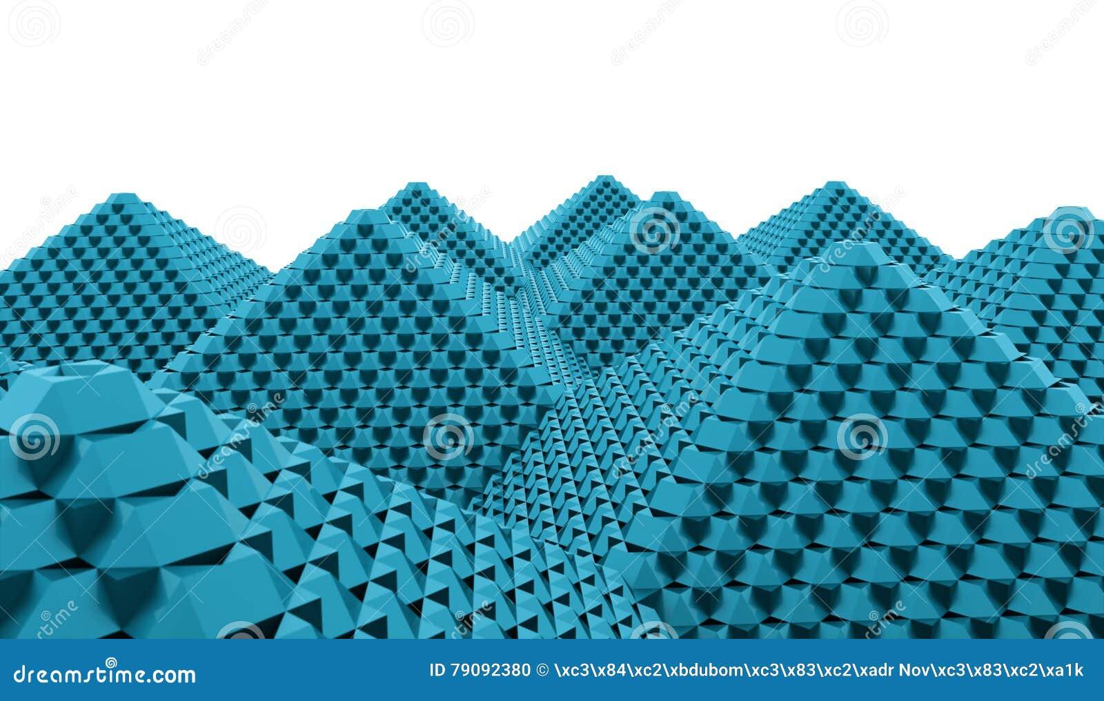 A pirâmide cuba o conceito rendido