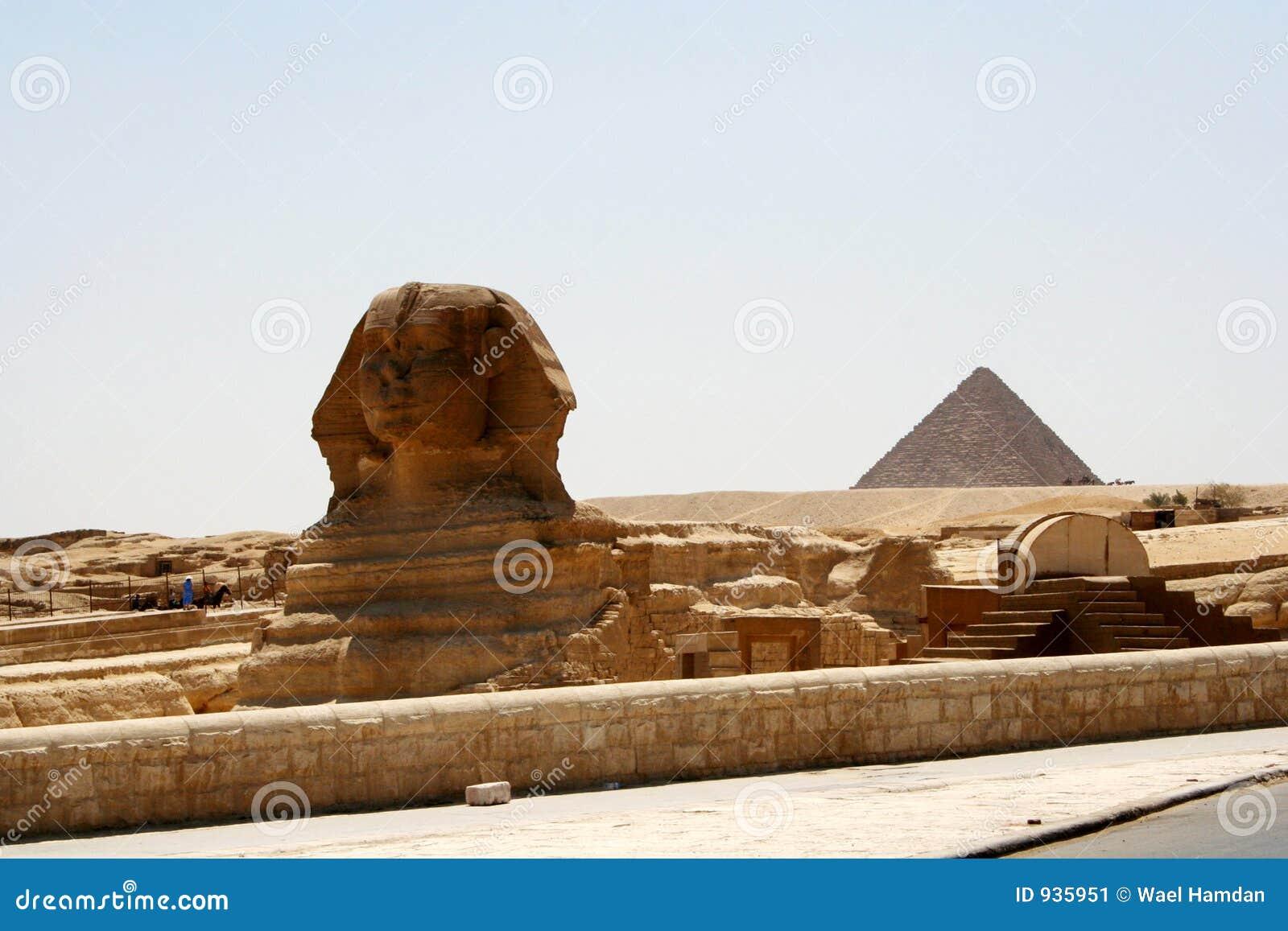 Pirâmide do Sphinx e do Chefren