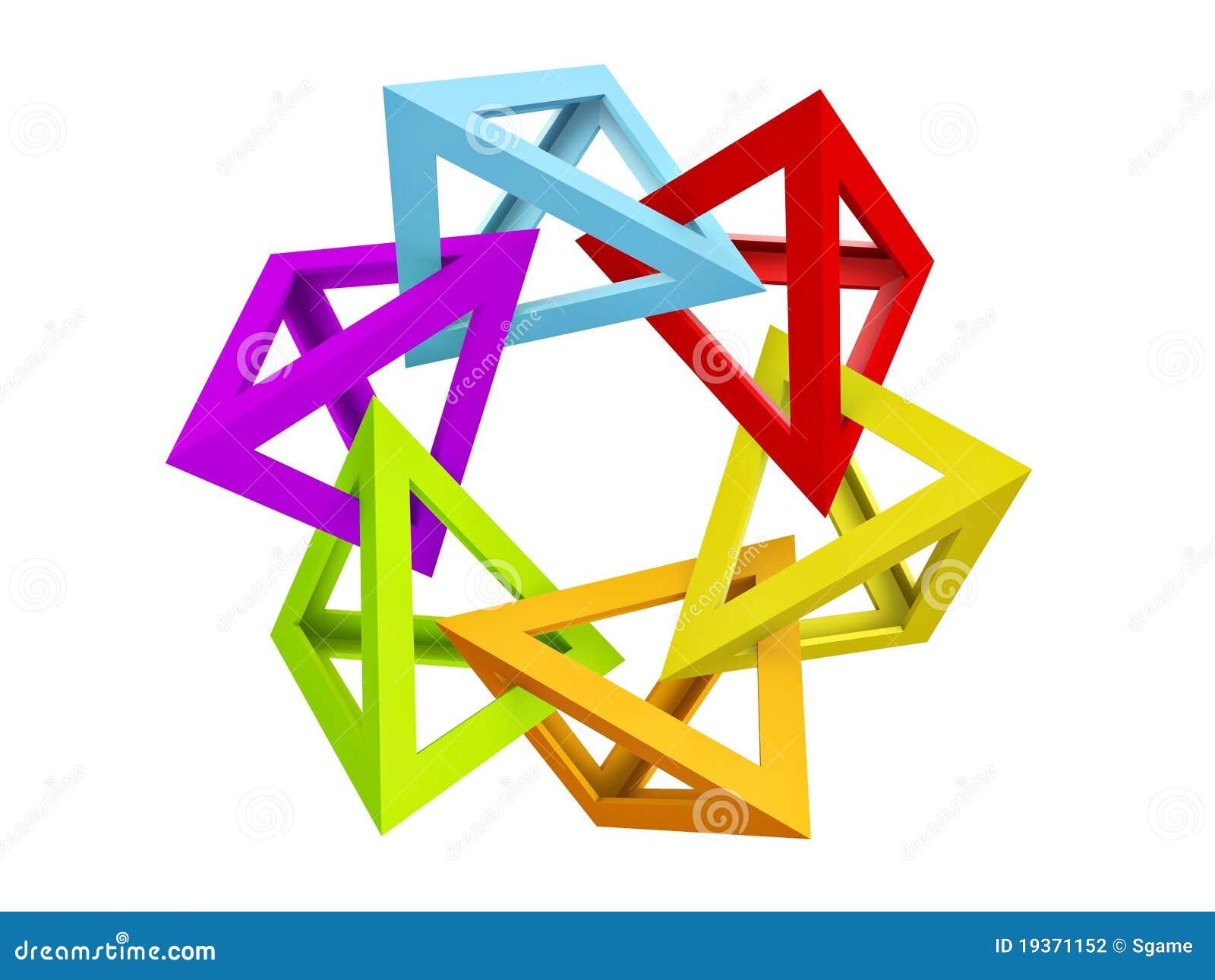 Pirâmide oca do triângulo